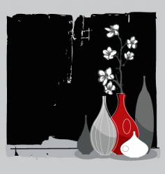 home interior with cherry blossom vector image
