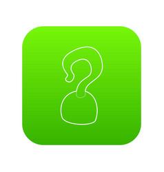 Hook icon green vector