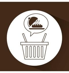 Hot bread basket vector