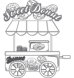 Ice cream parlour design elements vector