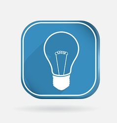 incandescent lamp Color square icon vector image