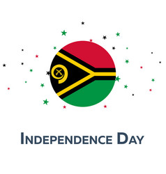 independence day of vanuatu patriotic banner vector image