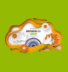 indian independence day holiday background paper vector image