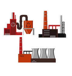 industrial factory buildings icon vector image