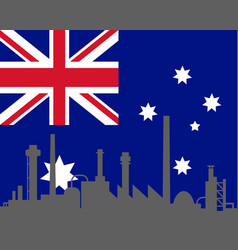 Industry and flag of australia vector