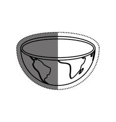 Isolate earth world vector