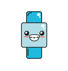 Kawaii cute happy smartwatch technology vector