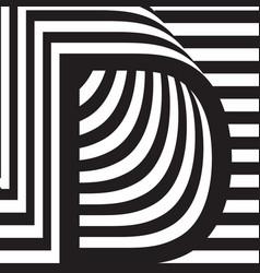 letter d design template vector image