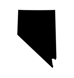 Map us state nevada vector