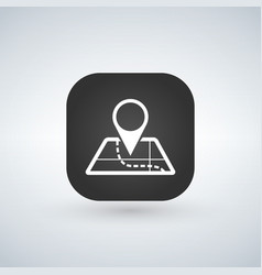 mobile app icon navigation map and pin symbol vector image