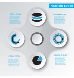 Modern flat design infographics elements vector image