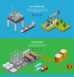 oil industry banners set vector image