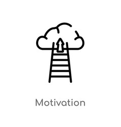 Outline motivation icon isolated black simple vector