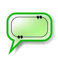 Paper Green Speech Bubble vector image
