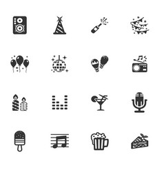 Party time icons set vector