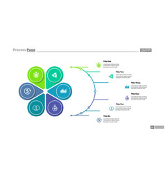 Petal diagram with six elements vector
