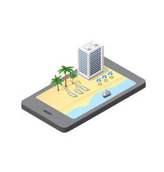 phone concept module block city vector image