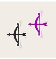 realistic design element archery vector image