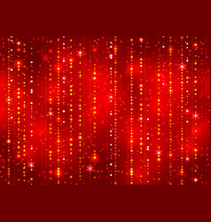 Red abstract decorative shining background vector