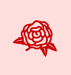 red rose logo template vector image