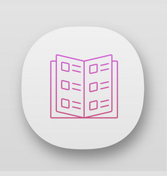Reference book business catalog app icon uiux vector