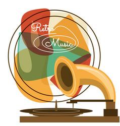 Retro radio to listent cds music vector