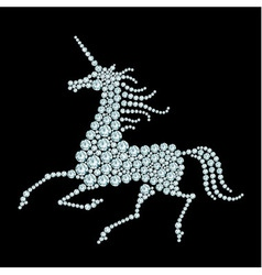 Running unicorn diamond composition vector