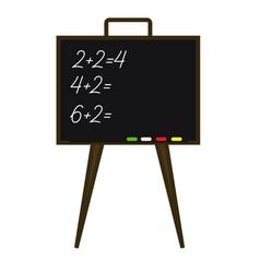 school blackboard with a task vector image