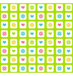 Seamless bright spring green abstract pattern with vector image