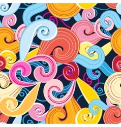 Seamless graphic pattern of waves vector image