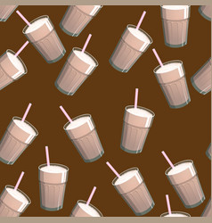 seamless pattern with coffee drink backdrop vector image