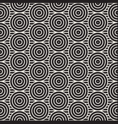 seamless pattern with concentric circles and lines vector image