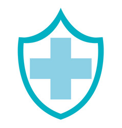 Shield with cross icon vector
