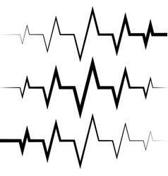 sine wave icon heart rate pulse icon medicine logo vector image