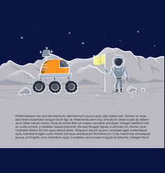 space ship and astronaut vector image