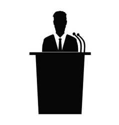 Speaker talk silhouette vector