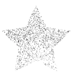 Star Single Grunge vector image