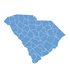 State map of South Carolina by counties vector image