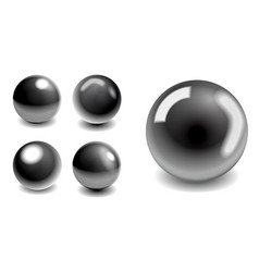 steel metallic balls vector image