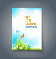 Summer positive card vector