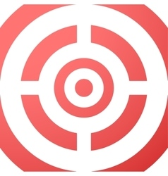 Target closeup red background vector image