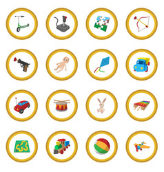 toys cartoon icon circle vector image