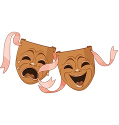 Tragedy and Comedy masks vector