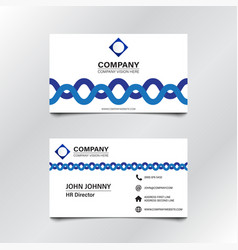 White blue wave business card 002 vector