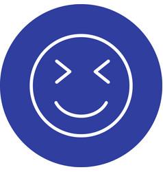 Wink emoji icon vector