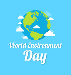 word environment day background earth vector image