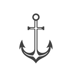 Anchor Isolated on white background icon in vector image