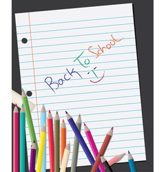 back to school background vector image