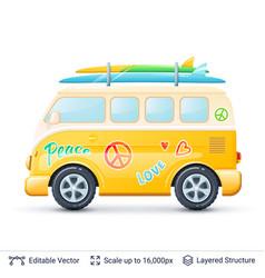 classic volkswagen bus vector image vector image