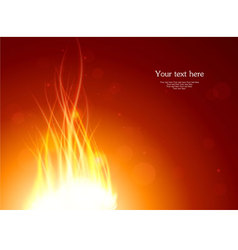 fire glow vector image